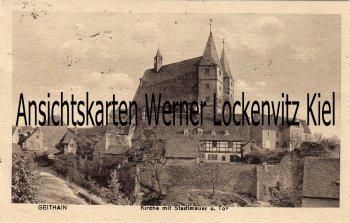Ansichtskarte Geithain Kirche mit Stadtmauer und Tor