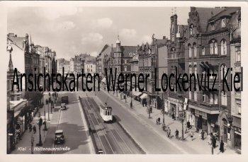 Ansichtskarte Kiel Holtenauerstraße mit Straßenbahn