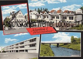 Ansichtskarte Karben 1 Wetteraukreis Schule Kindergarten Schloß