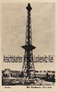 Ansichtskarte Berlin Funkturm wohl Einweihungsfeier