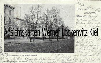 Ansichtskarte Polen Bromberg Bydgoszcz Regierungsgebäude mit Hauptsteueramt