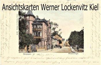 Ansichtskarte Gießen Westanlage