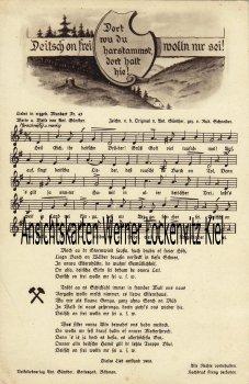 Ansichtskarte Deitsch on frei wolln mr sei! von A. Günther Liedkarte