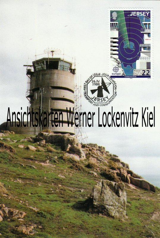 Maximumkarte Jersey Radio Tower Europa CEPT