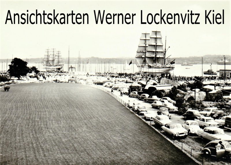 Ansichtskarte Kiel Jachthafen und Schulschiff Gorch Fock
