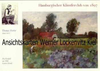 Ansichtskarte Hamburg Thomas Herbst Gemälde Das Kohlfeld Künstlerklub von 1897