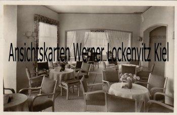 Ansichtskarte Kellenhusen Strand-Cafe Bes. G. Galuschki Innenansicht