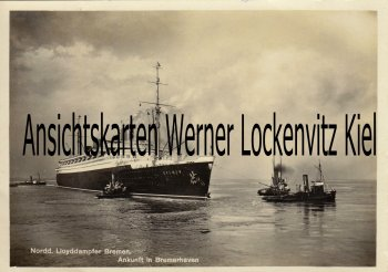 Ansichtskarte Ankunft in Bremerhaven Dampfer Bremen NDL Bordpost