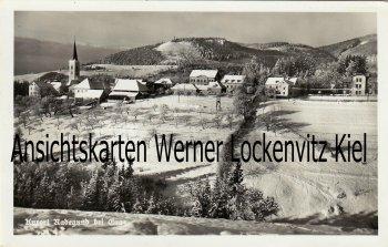 Ansichtskarte Österreich Radegund bei Graz Ortsansicht im Winter Steiermark