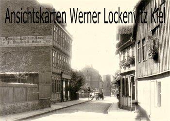 Ansichtskarte Wernigerode Straßenansicht Firma Dingelstedt Tapeten Foto