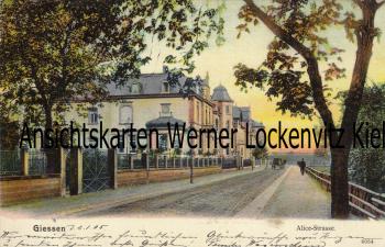 Ansichtskarte Gießen Alice-Strasse Alicenstraße