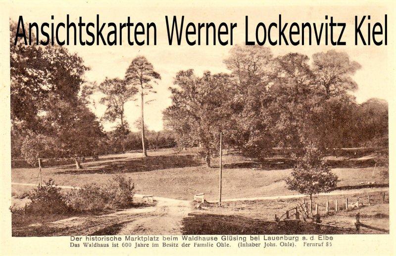 Ansichtskarte Lauenburg Elbe Schnakenbek Waldhaus Glüsing der historische Marktplatz