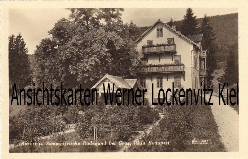 Ansichtskarte Österreich Radegund bei Graz Villa Budapest Steiermark