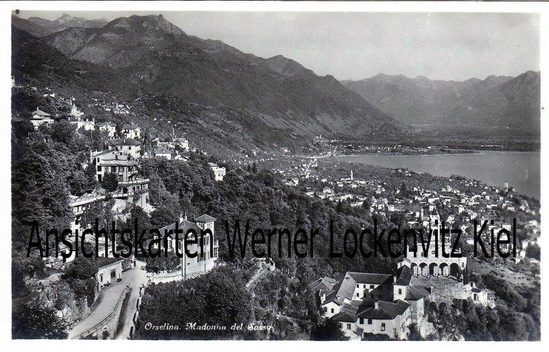 Ansichtskarte Schweiz Orselina Madonna del Sasso Ortsansicht Locarno Tessin