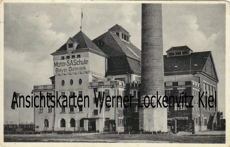 Ansichtskarte Regensburg Motor-SA Schule Bayer. Ostmark