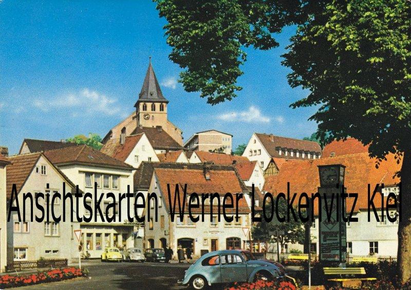 Ansichtskarte Frammersbach Partie am Marktplatz