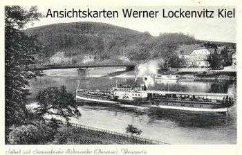 Ansichtskarte Bodenwerder Weserpartie mit Dampfer Kronprinz Wilhelm