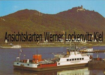 Ansichtskarte Königswinter am Rhein Auto-Fähre Königswinter Rheinfähre