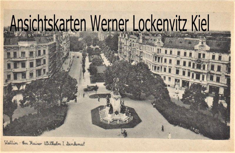 Ansichtskarte Polen Pommern Stettin Szczecin Am Kaiser Wilhelm I. Denkmal