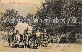 Ansichtskarte Ukraine Krim Kindergruppe Tataren