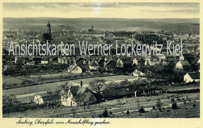 Ansichtskarte Ortsansicht von Amberg Oberpfalz