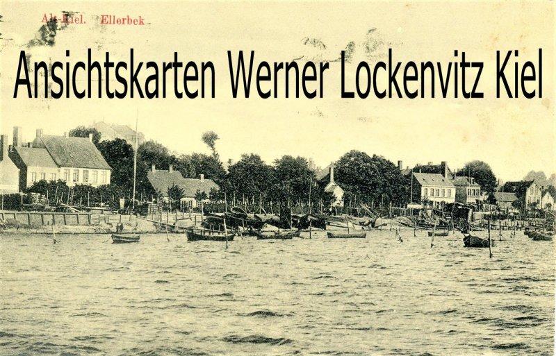 Ansichtskarte Kiel-Ellerbek Blick vom Wasser aus auf den Stadtteil