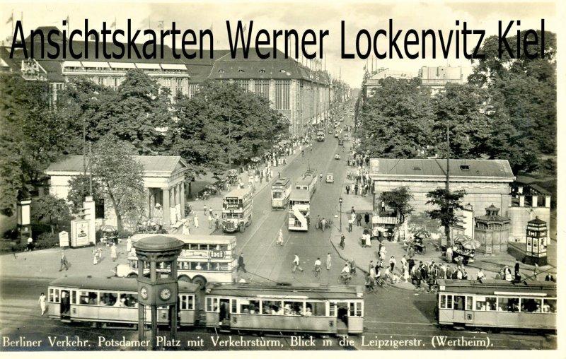 Ansichtskarte Potsdamer Platz Blick in die Leipzigerstraße in Berlin