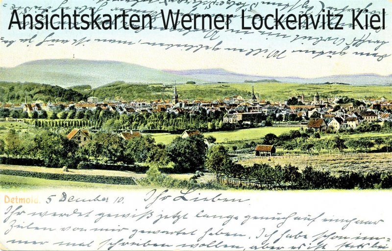 Ansichtskarte Ortsansicht von Detmold