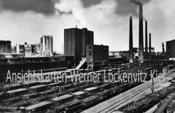 Ansichtskarte Gruß vom Ruhrrevier Ruhrzeche Kohletransport Bergbau