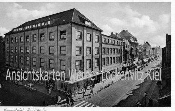 Ansichtskarte Herne-Wanne-Eickel Hauptstraße mit Warenhaus Althoff