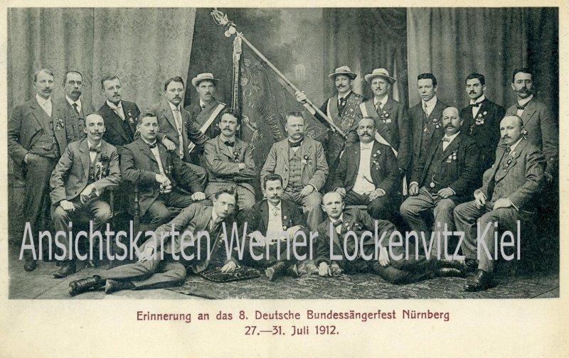 Ansichtskarte Nürnberg Erinnerung an das 8. Deutsche Bundessängerfest