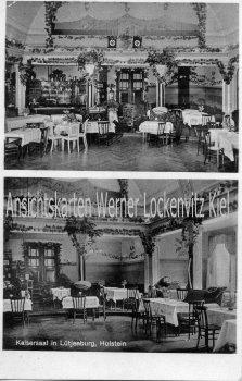 Ansichtskarte Lütjenburg Kaisersaal Bes. Fritz Wegner Innenansichten