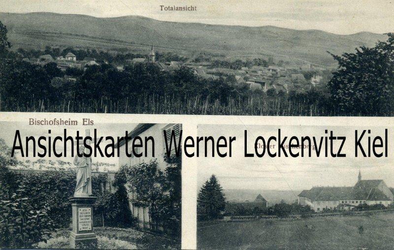 Ansichtskarte Carte Postale Frankreich France Bischofsheim Totalansicht Kloster Bischenberg Elsass