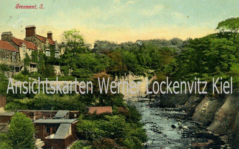 Ansichtskarte UK Grosmont Monmouthshire Ortsansicht mit Fluß Wales