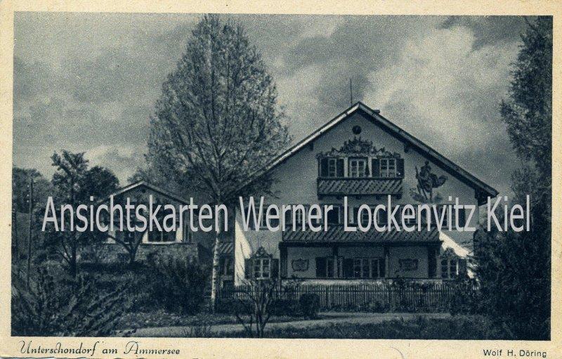 Ansichtskarte Unterschondorf am Ammersee Das Wilhelm-Leibl-Haus