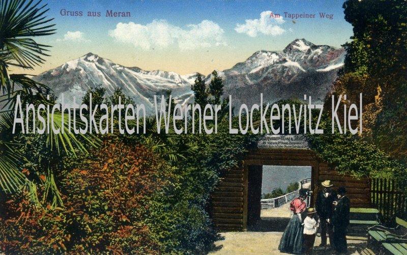 Ansichtskarte Cartolina Postale Italien Italia Meran Merano Gruss aus