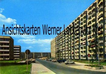 Ansichtskarte Erfurt Wohnblocks am Johannesplatz