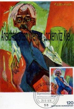 Maximumkarte Ernst Ludwig Kirchner Alter Bauer Deutscher Expressionismus