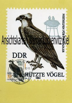 Maximumkarte Nisthilfen für Fischadler Geschützte Vögel