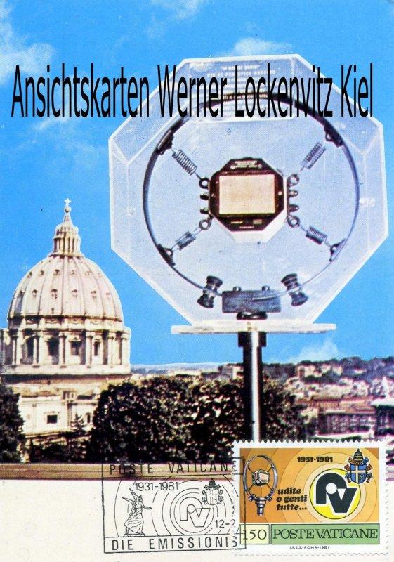 Maximumkarte Vatikan inaugurating Vatican Radio Station 1931