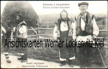 Ansichtskarte Gruss von den Karpaten Ruthenische Volkstracht