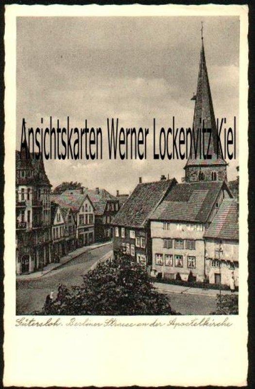 Ansichtskarte Gütersloh Berliner Strasse an der Apostelkirche