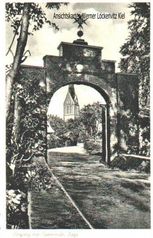 Ansichtskarte Rieste-Lage Eingang zur Commende Dominikanerinnenkloster Zum Gekreuzigten Erlöser