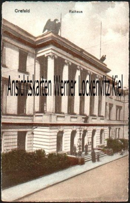 Ansichtskarte Krefeld Rathaus