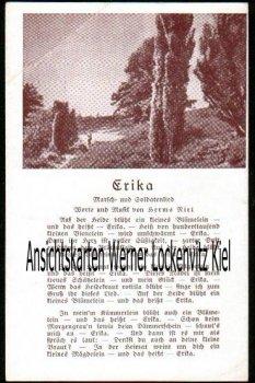 Ansichtskarte Soldatenlied Erika Liedkarte