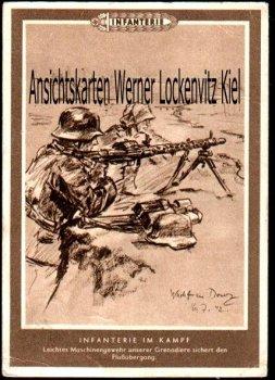 Ansichtskarte Infanterie im Kampf Leichtes MG