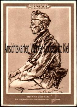Ansichtskarte Infanterie ein kampferfahrener Unteroffizier der Grenadiere