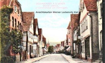 Ansichtskarte Bodenwerder Große Strasse mit Gastwirtschaft von Heinrich Brünig