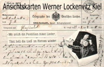 Ansichtskarte Glückstadt Telegrammkarte Kind als Postillon