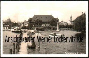 Ansichtskarte Konstanz Hafen